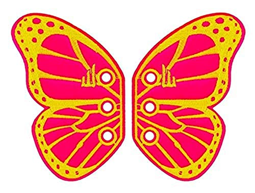Shwings Vermont Butterfly Lace In Wings For Shoes (Pink, Neon)