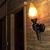 LKJCZ Antorcha Creativa Lámpara de Pared, Antorcha Luz Exterior Luz Jardín Porche Salón Dormitorio Escalera Pasillo Restaurante Cafe Cafe Bra Ligero,righthand