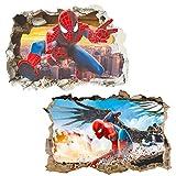 Polly Online 2 PCS Póster Spiderman Spiderman Vinilos Decorativos Spiderman Etiqueta de la Pared
