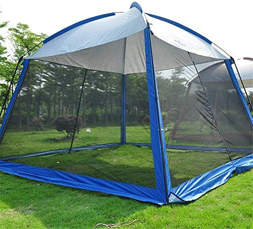 ZHOUYANG Children's tent 5-8 Person Use 330 * 330 * 245CM With Mosquito Net Breathable Camping Tent Large Gazebo Sun Shelter,Colour:Pink Portable game tent (Color : Blue)