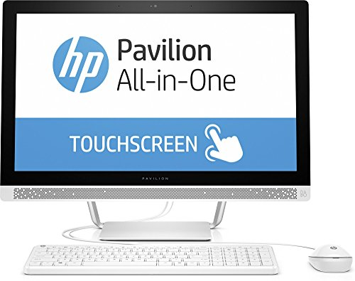 HP Pavilion (24-b150ng) 60,4 cm (23,8 Zoll / FHD IPS Touchscreen) All In One Desktop PC (Intel Core i7-6700T, 8 GB RAM, 128 GB SATA SSD, 1 TB HDD, NVIDIA GeForce 930A, Windows 10 Home 64) Weiß