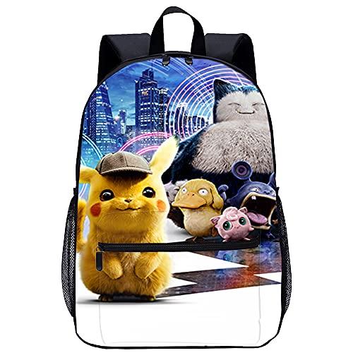 3D Escolar Mochila con Mochilas Escolares Pikachu Adecuado para: estudiantes de primaria y secundaria, la mejor opción para viajes al aire libre Tamaño: 45x30x15 cm / 17 pulgadas Mochila para niños