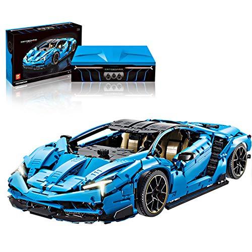 Trueornot Piezas de construcción de coche para Lamborghini Centenario, 3899stk 1:8 Technic Sportwagen compatible con Lego, color azul