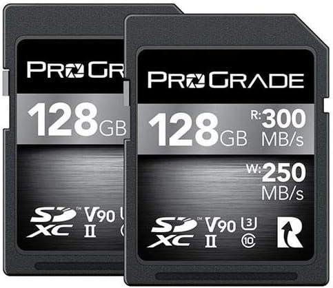 Prograde Digital 128GB UHS-II SDXC Memory Card (2-Pack)