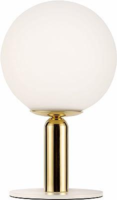 Pauleen 48230 Poser Splendid Pearl Max. 20Watt Blanc, doré Lampe de Chevet au Look Glamour en Verre, métal G9