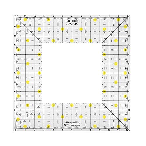 Regla para acolchar, regla de costura multifunción de alta precisión con orificios para colgar para coser para medir