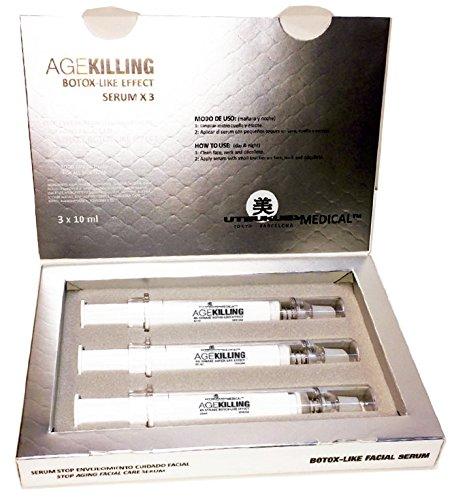 AgeKilling Serum - Revolutionäre Anti-Aging Behandlung 3 x 10 ml - ideale Ergänzung zu Microneedling Behandlungen - Botulin-Like - mit 4% Synake™ & 2% Argireline™