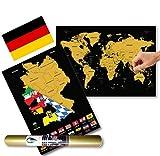 Global Walkabout DEUTSCH Europakarte zum Rubbeln -