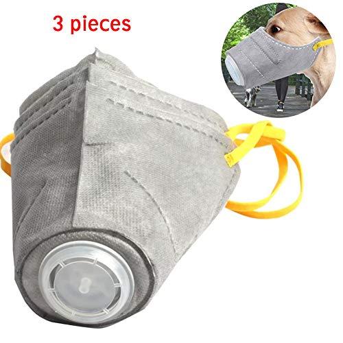 PJDDP Atemschutzmaske Für Hunde, Atemschutzmaske Für Hunde, Atemschutzmaske Für Hunde, Anti-Fog-Maske Für Hunde, 3-Teilig,L