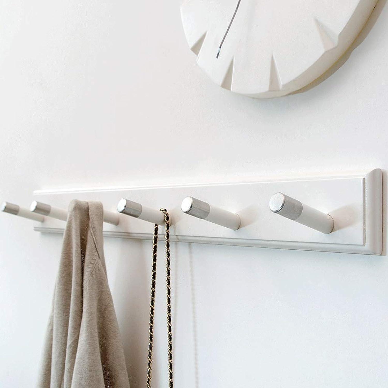 Simple Creative Bedroom Wall Coat Rack Door Hanger Wall Hanging Hook Wall Porch Solid Wood Clothes Hook (color   A)
