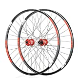 <span class='highlight'><span class='highlight'>CHUDAN</span></span> Mountain Bike Wheels, Bicycle Wheelset 26/29 / 27.5 Inch Front Rear Wheelset Double-Walled MTB Rim Fast Release Disc Brake 32Holes 4 Palin 8-11 Speed,Red,26in