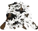 IMQOQ - Alfombra de piel de vaca sintética para salón, dormitorio, etc. Antideslizante, 110 x 75 cm