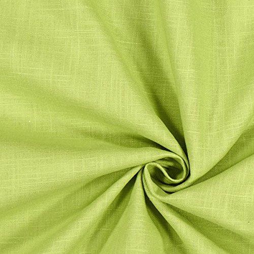 Fabulous Fabrics Leinenstoff mittelschwer, lindgrün – Leinenstoffe zum Nähen von Leinenhosen, Freizeithemden,...