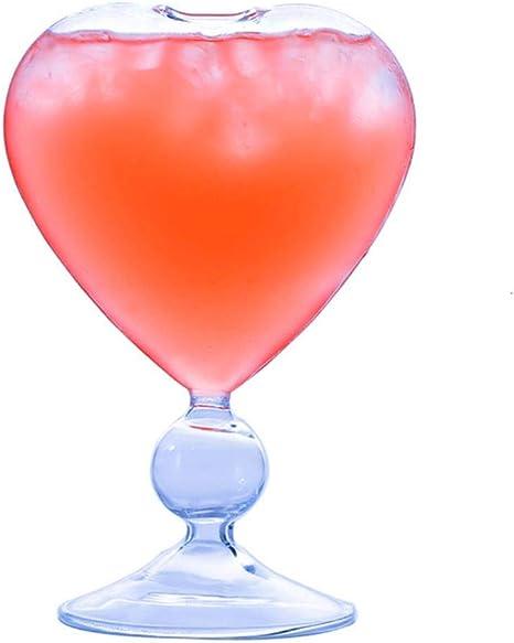 Moda Copa de cóctel en forma de corazón Romántico Cordate ...