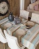 140x 200cm azul marrón rayas escandinavo American Instagram mantel algodón lino mesa de comedor Picnic Rectangular cuadrado ecológico cubre