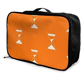 Custom Lightweight Duffel Bag Lightweight Fashion Creative Hourglass Ornaments Luggage Garment Bags For Travel Foldable Portable Storage Luggage Bag With Trolley Sleeve