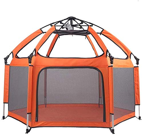 Affordable Cxjff -Playpens Playpens Tent Game Fence Outdoor Sunscreen Heatstroke Folding/Orange (Col...