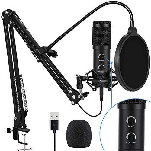 2021 Upgraded USB Condenser Microphone for Computer Great for Gaming Podcast LiveStreaming YouTube product image