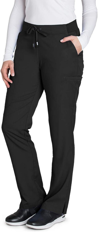 BARCO Grey's Anatomy Women's Mia Pant, Easy Care Medical Scrub Pants w/ 6 Pockets & Elastic Drawcord Waistband