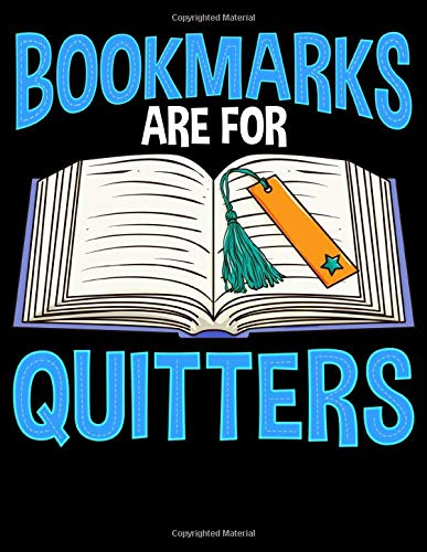 Bookmarks Are For Quitters: Bookmarks are for Quitters Funny Reading Pun 2020-2024 Five Year Planner & Gratitude Journal - 5 Years Monthly Calendar & Thankfulness Reflection With Stoic Stoicism Quotes
