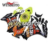 WYNMOTOフェアリングキットに適合した外装部品CBR1000RR 2012 2013 2014 2015 2016 cbr1000rr 12 13 14 15 16 ABSプラスチックインジェクションスポーツバイクボディワークボディカウル - 緑とオレンジと黒版