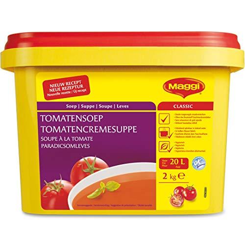 Maggi Tomatencremesuppe, Herzhafte Tomatensuppe, Vegan, 1er Pack (1 x 2kg)