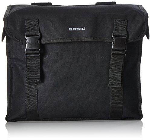 Basil Unisex– Erwachsene Gepäckträgertasche Kavan Fahrradtasche, Black, 43 cm x 22 cm x 46 cm