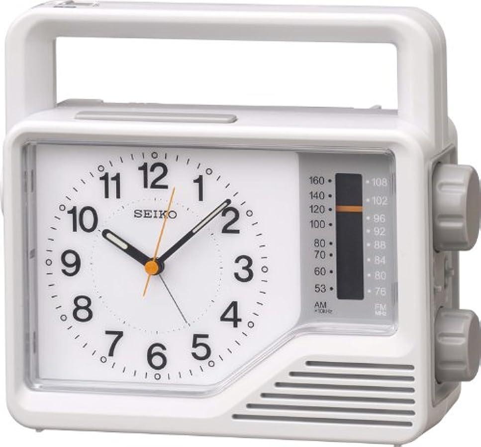 読者日付スリチンモイSEIKO CLOCK (セイコー クロック) アナログ 防災 目覚し時計 ラジオ 懐中電灯 手動発電機 KR870N