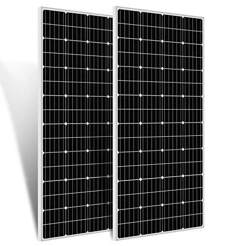 ECO-WORTHY 300W 12 Volt monokristallines Solarmodul, 2 Stücke 150W Solarpanel Ideal zum Aufladen von 12V Batterien, für Wohnmobil Garten Camper Boot und Dach des Hauses