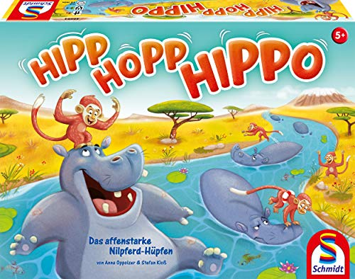 Schmidt Spiele 40594 Hipp HOPP Hippo, Laufspiel, Bunt