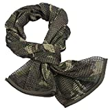 Tongcamo Camouflage Netting, Tactical Mesh Net Camo Scarf for Wargame, Sports & Other Outdoor Activities