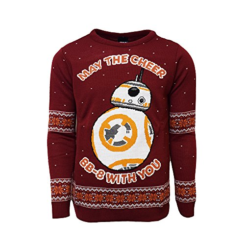 Official Star Wars BB-8 Christmas Jumper/Ugly Sweater - UK 2XL/US XL