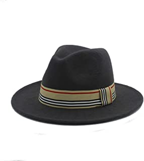 SHENTIANWEI Men Women Winter Fedora Hat with Cloth Belt Wide Brim Hat Casual Wild Church Fascinator Hat Panama Hat Size 56-58CM