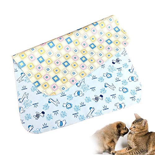 Estera entrenamiento doble cara impermeable para mascotas - Sábana impermeable para bebés, Super suave, Almohadilla Aislamiento Terciopelo Período lavable Aunt Pad Waterproof Pad,80*58cm3pcs,L