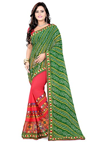 arriva fab Women's Georgette Saree With blouse piece