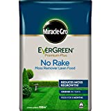 Miracle-Gro EverGreen Premium Plus No Rake Moss Remover Lawn Food 10kg - 100m2