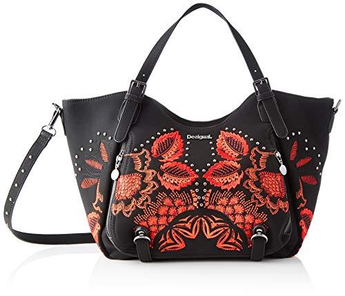 Desigual Damen Bag Gemini Rotterdam Umhängetasche, Schwarz (Negro), 30x15x31 cm