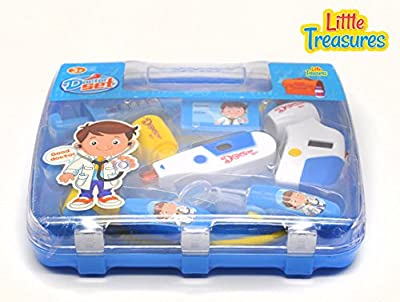 Little Treasures Doctor's Kit Pretend and Play Set with a Selection of Equipment and Play Medicine All housed in a Convenient Dr Carry case. from Little Treasures