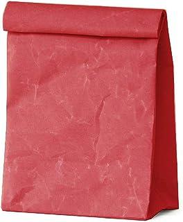 SIWA(シワ) クラッチバッグ M 特殊な和紙で作られた軽くて風合いの良いバッグ レッド