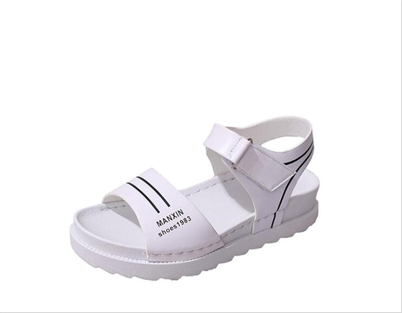 YUBUKE Women's Bohemian Platform Sandals Rhinestone Bead Wedge shoes Thong Sandal