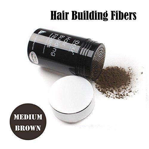 Easy to Use Lose Hair Building Fibers Medium Brown Color 22g