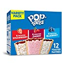 Kellogg's, Pop-Tarts Variety Pack, Frosted Strawberry, Frosted Blueberry, Frosted Cherry, 12 Ct