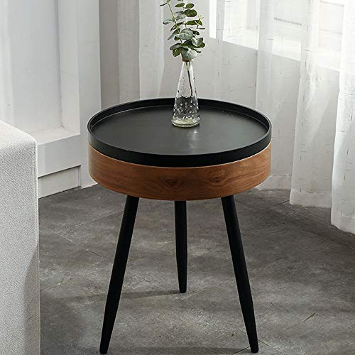XJLJ Coffee Tables End Table Coffee Table Modern Minimalist Bedside Table Round Side Table With Storage Compartment For Livingroom Or Bedroom Sofa Table for Office Furniture