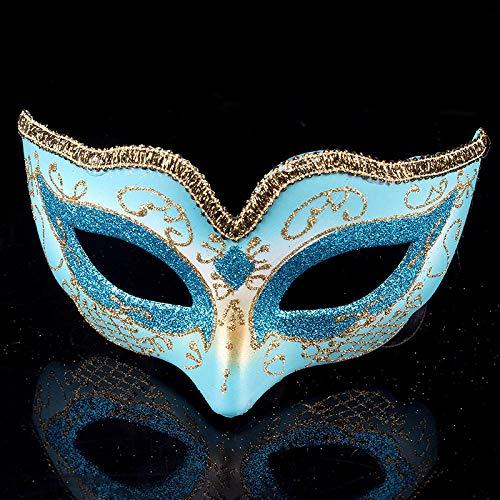 YULEJIA Maskerade Maskers Voor Vrouwen, Venetië Halloween Koppels Party Blauw Kinderen Tekenen Half Gezicht Kunststof Masker Carnaval Cosplay Mardi Gras Masker Prom Artiesten Wanddecoratie