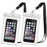 OCASE Wasserdichte Hülle Handyhülle Schutzcase, Universal Handy case Tasche mit Umhängeband für...