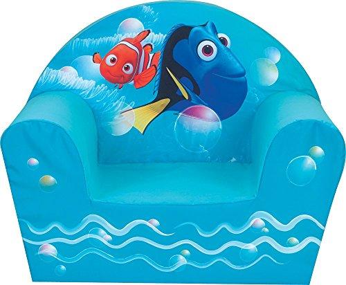 Fun House 712489- Poltrona in Schiuma, Motivo: Dory, in Poliestere Azzurro, 52x 33x 42cm