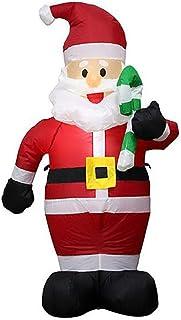 عيد الميلاد سانتا كلوز قابل للنفخ مع عصا الحلوى تزيين المنزل ساحة أضواء LED في الهواء الطلق الحلي عيد الميلاد رأس السنة ال...