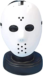SHATCHI Unisex Adult Jason Voorhees Freddy Hockey Guy Fawkes Fancy Dress Costume Halloween Trick or Treat White Face Mask ...