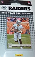 Oakland Raiders 2018 Panini Factory Sealed NFL Football Complete Mint 11 Card Team Set with Derek Carr, Marshawn Lynch, Arden Key Rookie card plus