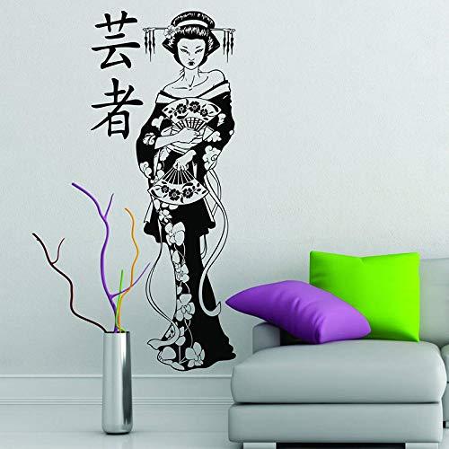 Chica pegatina de vinilo manga decoración japonesa anime vinilo etiqueta de la pared mural papel pintado impermeable etiqueta de la pared42x40cm